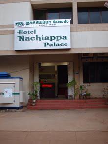 Vårt hotell i Karaikudi.